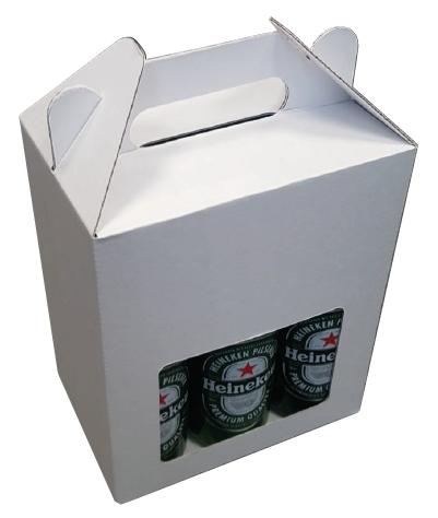 182*121*230mm   Bierkoffer 6 fles zonder biervilten