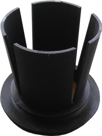 Afroldoppen kunststof zwart